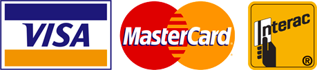 Accepted Payment methods: Visa MasterCard Interac